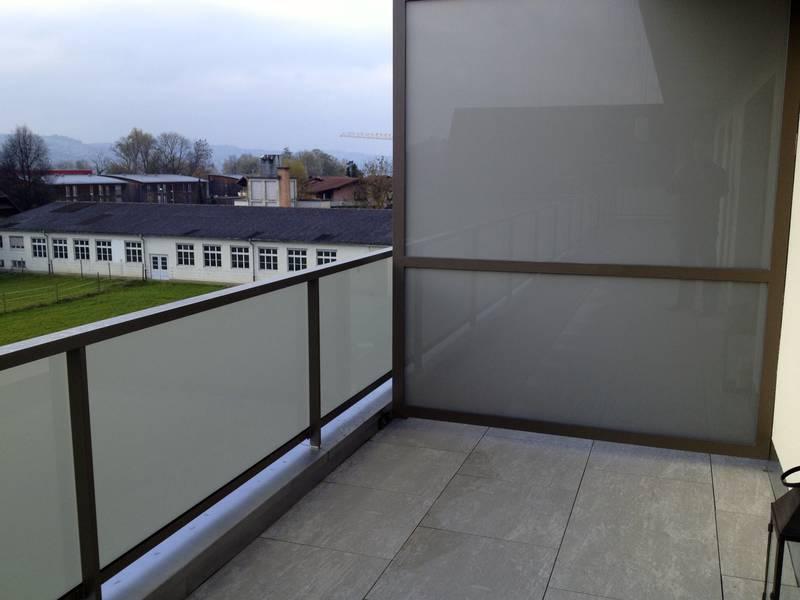 ... im Innen und Aussenbereich: Sicht- und Windschutz Balkon